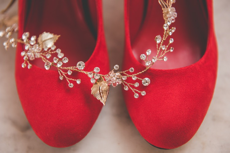 Shoes Bride Bridal Quirky Red Outdoor Multicultural Chinese Tea Ceremony Wedding  http://www.bgproonline.com/