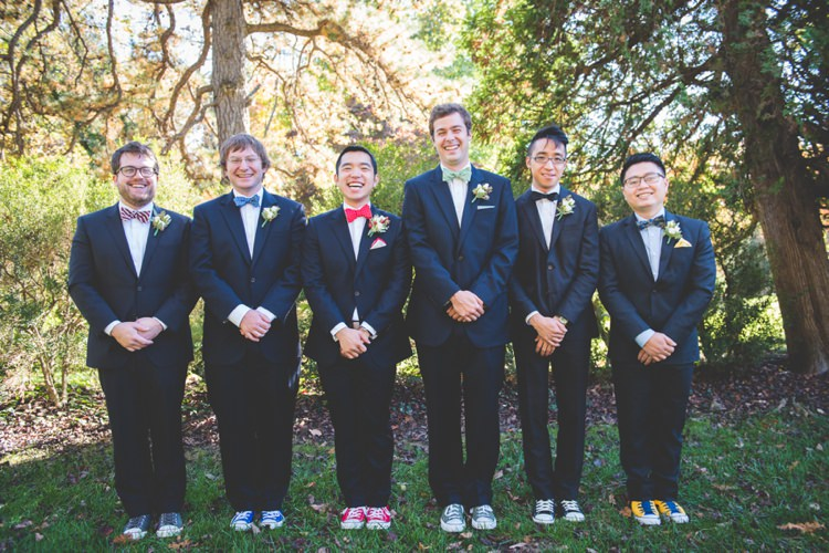 Bow Tie Converse Groom Groomsmen Quirky Red Outdoor Multicultural Chinese Tea Ceremony Wedding  http://www.bgproonline.com/