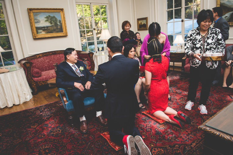Quirky Red Outdoor Multicultural Chinese Tea Ceremony Wedding  http://www.bgproonline.com/