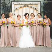 Gold Chevron Meets Easter Travel Inspired Barn Wedding