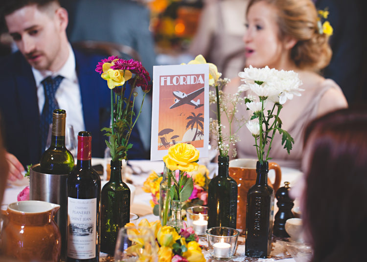 Table Names Gold Easter Travel Barn Wedding http://hbaphotography.com/