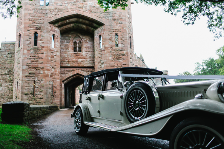 Classic Car Beautiful English Garden Blooms Marquee Wedding http://www.sansomphotography.co.uk/
