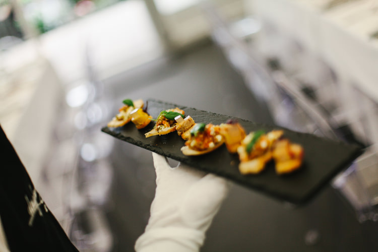 Canapes Beautiful English Garden Blooms Marquee Wedding http://www.sansomphotography.co.uk/