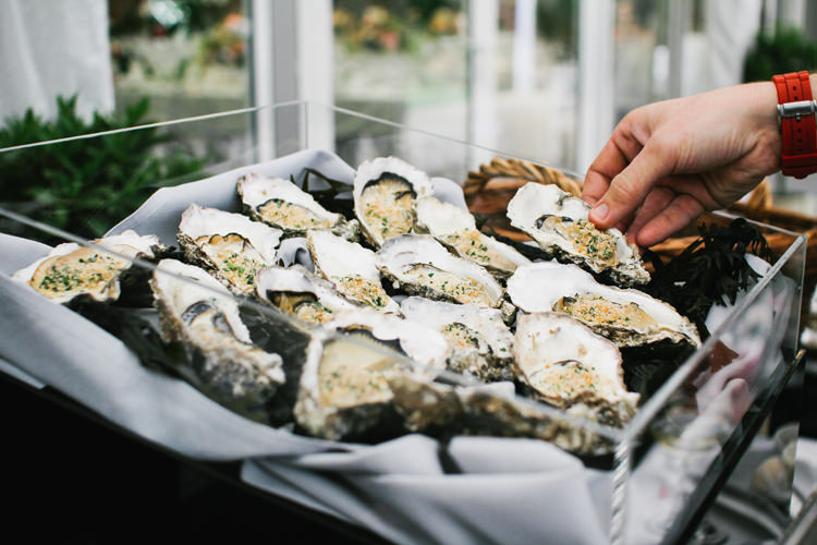Oysters Food Beautiful English Garden Blooms Marquee Wedding http://www.sansomphotography.co.uk/