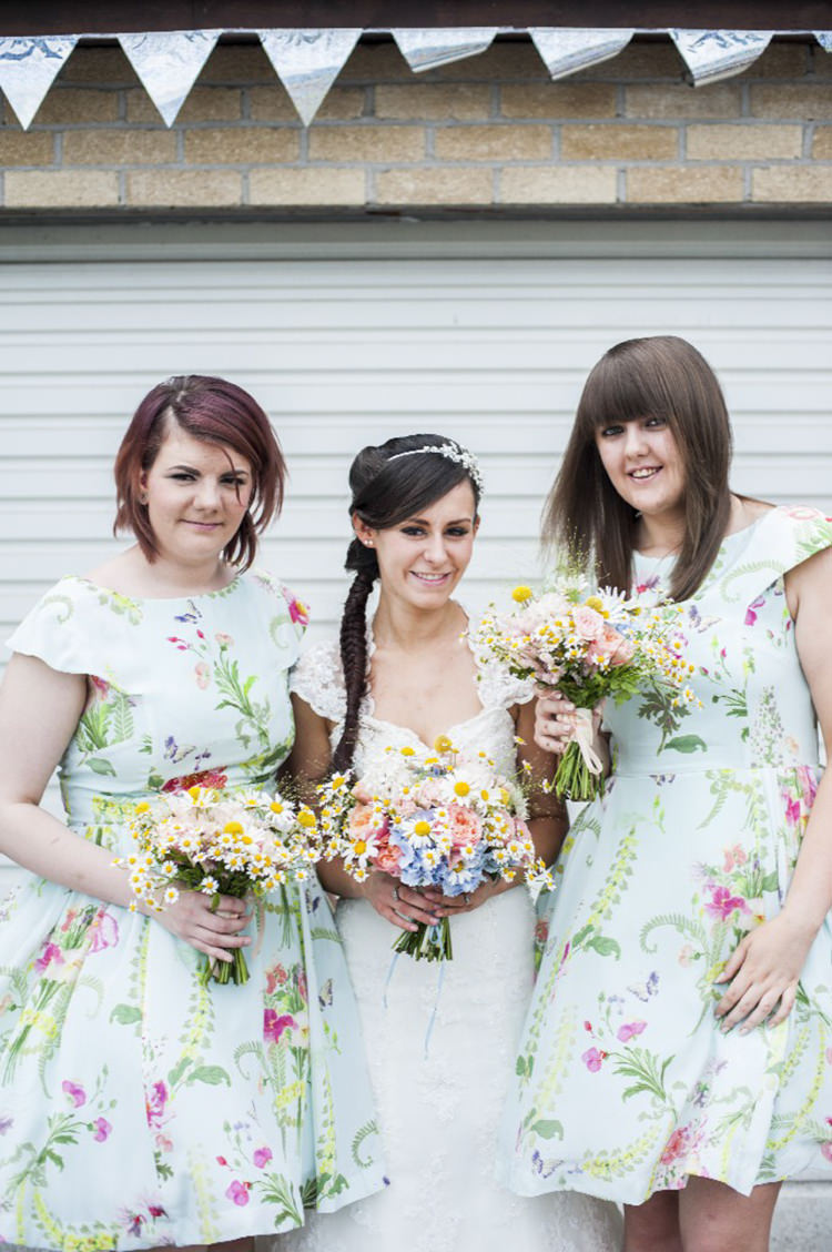 Floral Prom Dresses Bridesmaids Short Pretty Village Fete Floral Museum Cardiff Wedding http://eleanorjaneweddings.co.uk/