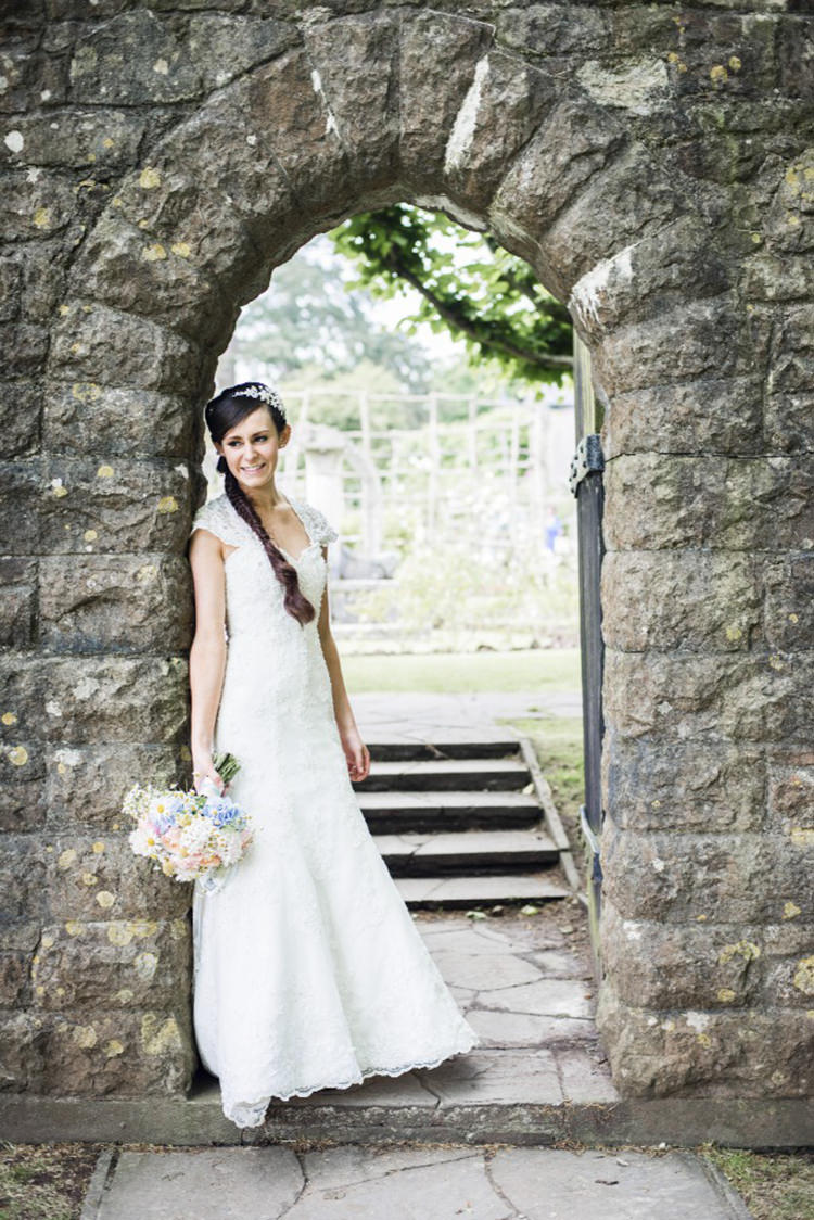 Mori Lee Lace Dress Bride Bridal Gown Pretty Village Fete Floral Museum Cardiff Wedding http://eleanorjaneweddings.co.uk/