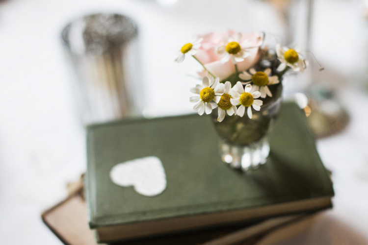 Daisies Books Decor Pretty Village Fete Floral Museum Cardiff Wedding http://eleanorjaneweddings.co.uk/