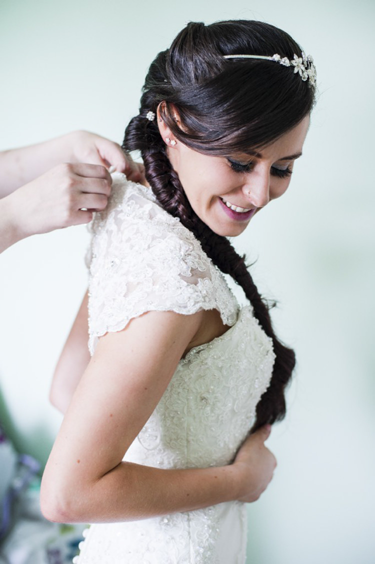 Fishtail Plait Bride Hair Bridal Style Pretty Village Fete Floral Museum Cardiff Wedding http://eleanorjaneweddings.co.uk/