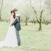 Romantic White & Grey Vineyard Wedding in Castelvecchio Italy