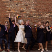 Massive Music Party Festival Feel Wedding with a Street Parade in York