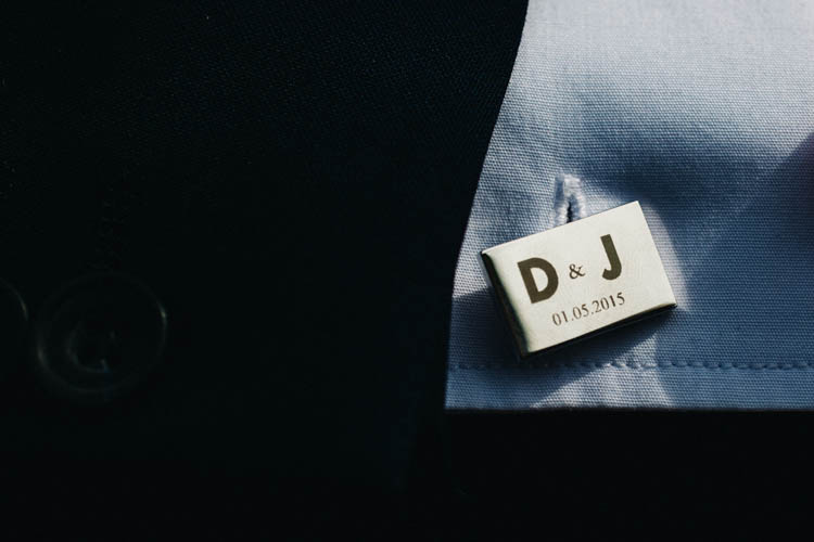 Personalised Cufflinks Happy Relaxed Modern Meets Traditional Countryside Wedding http://rachelryanphotography.co.uk/