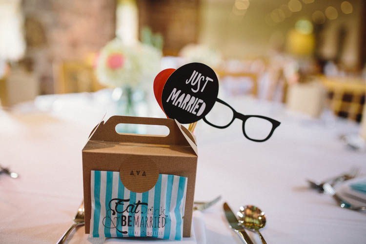 Favour Bag Box Props Photobooth Happy Relaxed Modern Meets Traditional Countryside Wedding http://rachelryanphotography.co.uk/