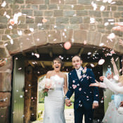 Happy & Relaxed Modern Meets Traditional Countryside Wedding