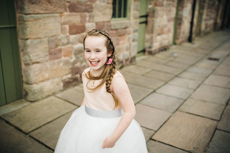 Flowergirl Happy Relaxed Modern Meets Traditional Countryside Wedding http://rachelryanphotography.co.uk/