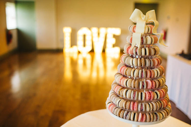 Macaron Tower Happy Relaxed Modern Meets Traditional Countryside Wedding http://rachelryanphotography.co.uk/