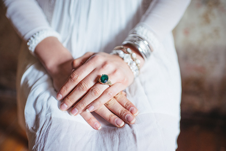 Emerald Engagement Ring Rustic Wedding Ideas in a Vintage House http://avbart.com/