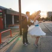Awesome 1950s Diner & Superhero Wedding