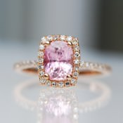 Beautiful Sapphire & Rose Gold Engagement Rings by Eidel Precious