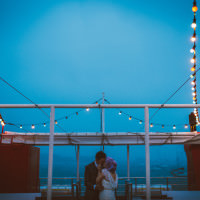 Happy Favourite Place Seaside Clocks Exmouth Wedding http://www.alextentersphotography.co.uk/