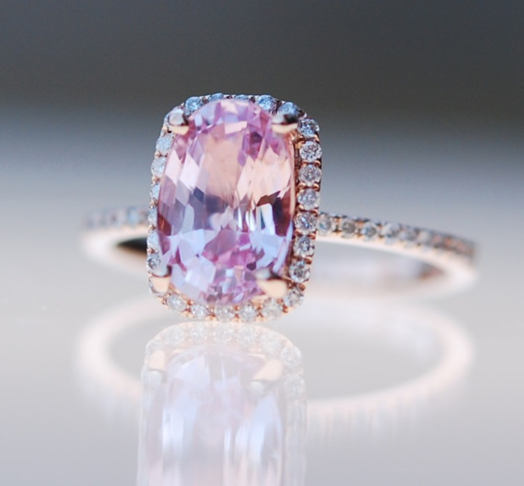 Sapphire Engagement Ring Eidel Precious Rose Gold