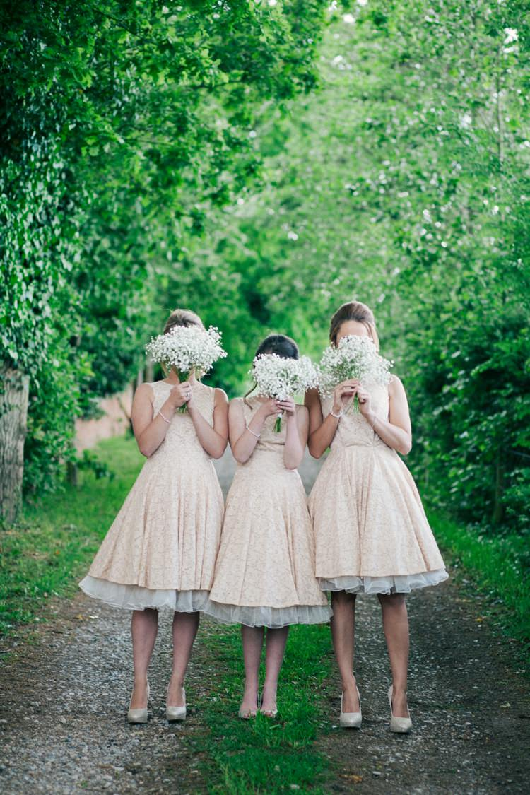 Prom Dress Bridesmaid Petticoat Gypsophila Bouquets Whimsical Peach Afternoon Tea Party Wedding http://clairemacintyre.com/