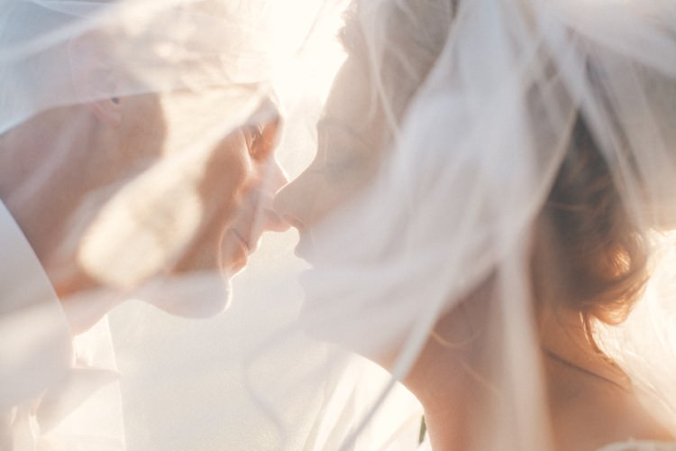 Veil Bride Groom Whimsical Peach Afternoon Tea Party Wedding http://clairemacintyre.com/