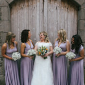 Pretty & Hand Made Summer Field Wedding with a Cake Bake Off