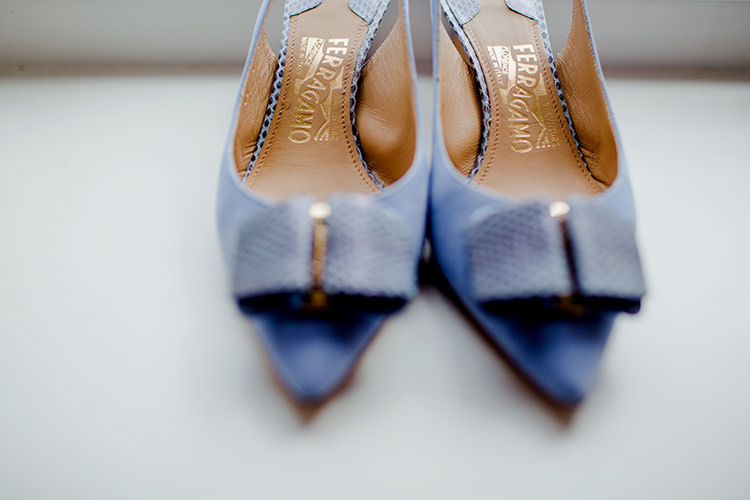 Blue Shoes Bride Bridal Vibrant Quirky Colourful Spring London Wedding http://www.ireneyapweddings.com/