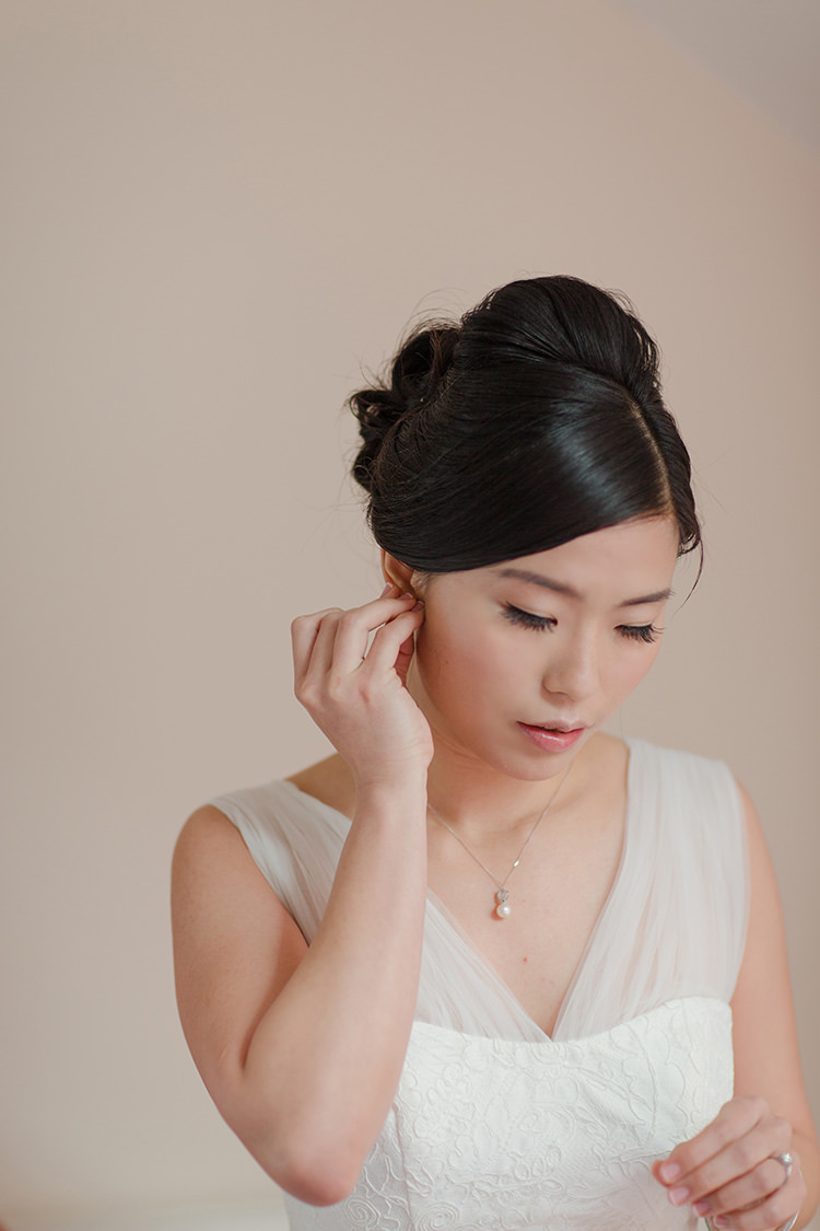 Classic Bride Hair Style Up Do Vibrant Quirky Colourful Spring London Wedding http://www.ireneyapweddings.com/