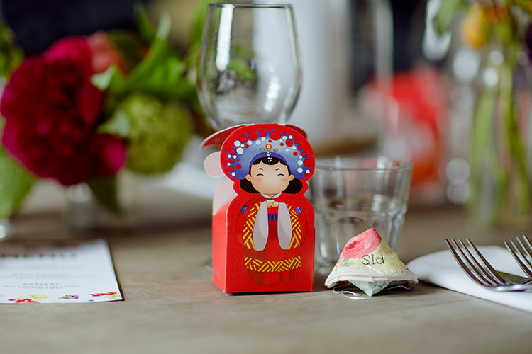 Fortune Cookie Favours Vibrant Quirky Colourful Spring London Wedding http://www.ireneyapweddings.com/