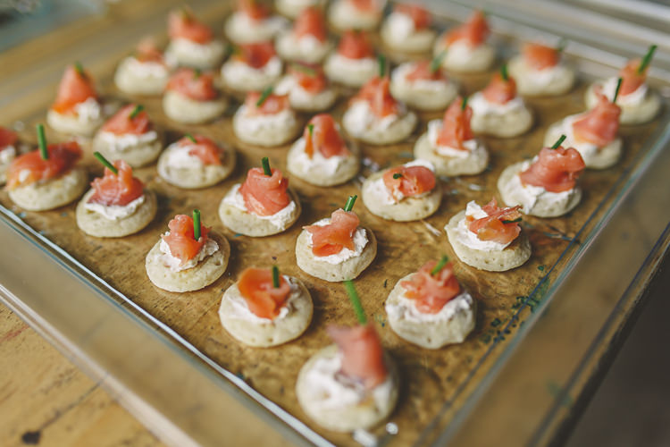 Canapes Relaxed Rustic Coral Peony Barn Wedding http://www.benjaminstuart.co.uk/