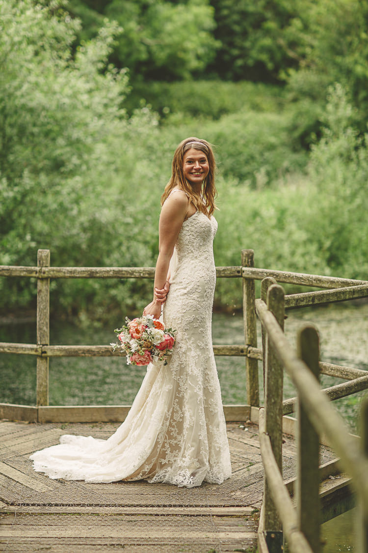 Chesney by Maggie Sottero Lace Gown Dress Bride Bridal Relaxed Rustic Coral Peony Barn Wedding http://www.benjaminstuart.co.uk/