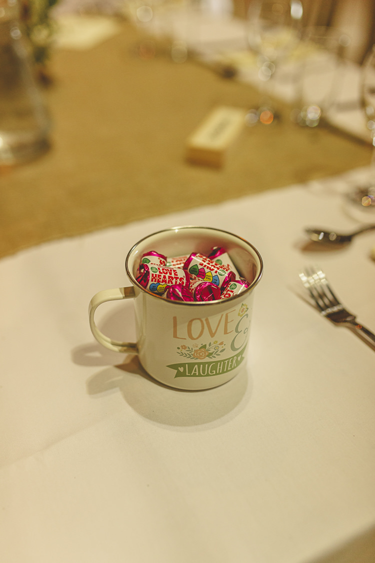 Mug Love Heart Favours Relaxed Rustic Coral Peony Barn Wedding http://www.benjaminstuart.co.uk/