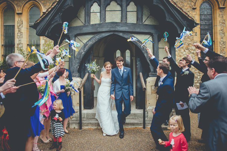 Stick Ribbons Confetti Fun Enchantment Under The Sea Dance Blue London Wedding http://bigbouquet.co.uk/