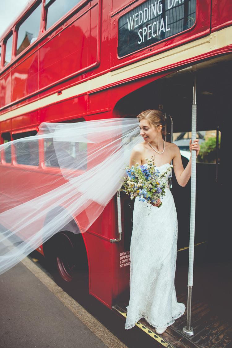 Veil Bride London Bus Fun Enchantment Under The Sea Dance Blue London Wedding http://bigbouquet.co.uk/