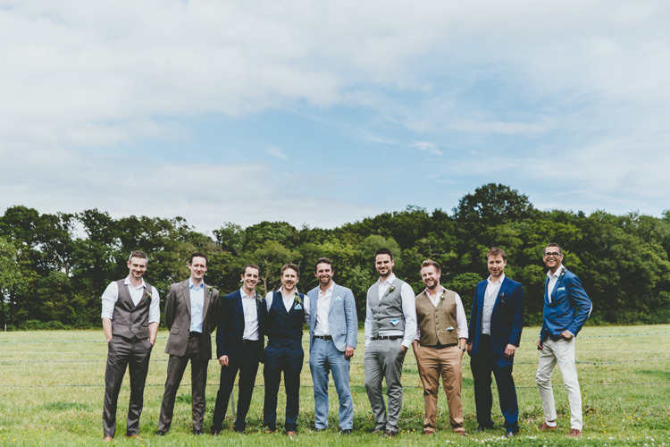 Mismatched Groomsmen Relaxed Fun Rustic Countryside Barn Wedding http://www.paulunderhill.com/