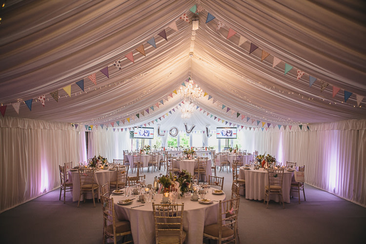 Marquee Fairy Lights Bunting Love Balloons Crafty DIY Pastel Shabby Chic Wedding http://www.tierneyphotography.co.uk/