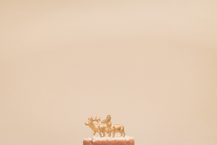 Reindeer Cake Topper Intimate Christmas Cosy House Wedding Gold Sequin Dress http://www.tomaszkornas.com/