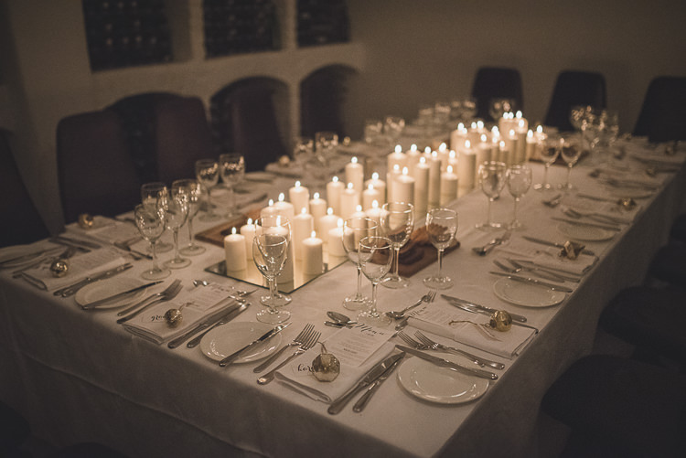 Candles Candelit Dinner Tables Intimate Christmas Cosy House Wedding Gold Sequin Dress http://www.tomaszkornas.com/