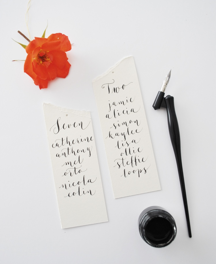 Modern calligraphy tutorial suspended flower wedding