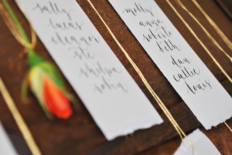 DIY Calligraphy Table Plan DIY Tutorial Flower Seating Chart
