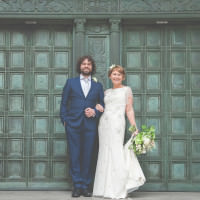 Relaxed Stylish Liverpool City Wedding Walk Down Aisle Together http://lisahowardphotography.co.uk/