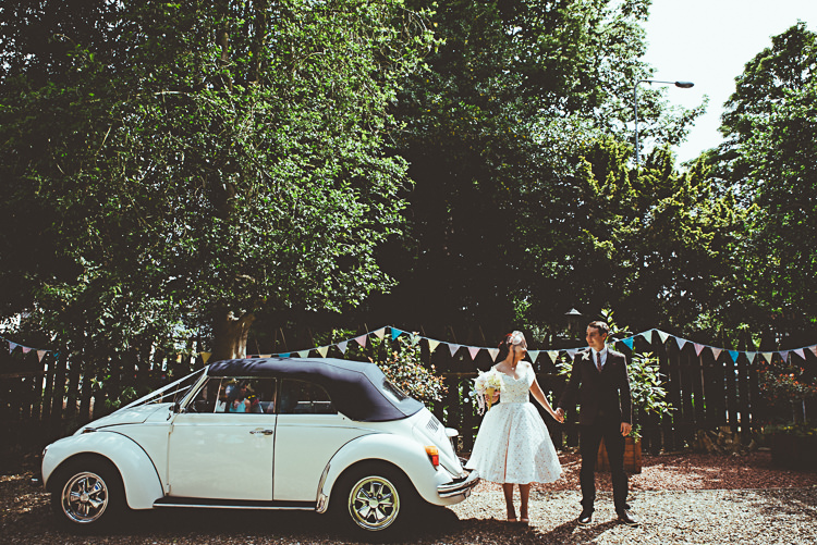 VW Beetle Car Back Garden Vintage Pastel Seaside Wedding http://photo.shuttergoclick.com/