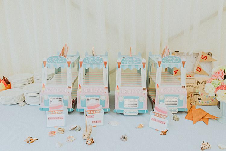 Ice Cream Cake Stands Back Garden Vintage Pastel Seaside Wedding http://photo.shuttergoclick.com/