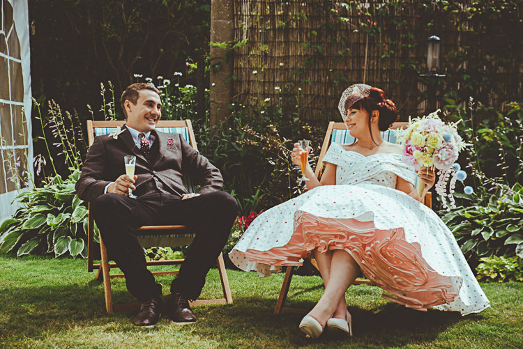 Pink Petticoat Dress Bride Bridal Gown 1950s Back Garden Vintage Pastel Seaside Wedding http://photo.shuttergoclick.com/