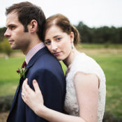 Intimate Mismatch & Burgundy Character Countryside Wedding