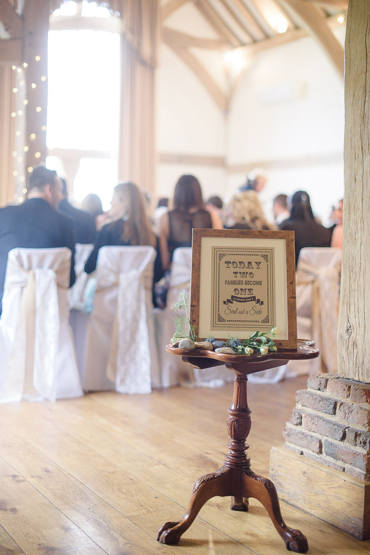 Sign Stationery Ceremony Pretty Natural Rustic Woodland Wedding http://riamishaal.com/