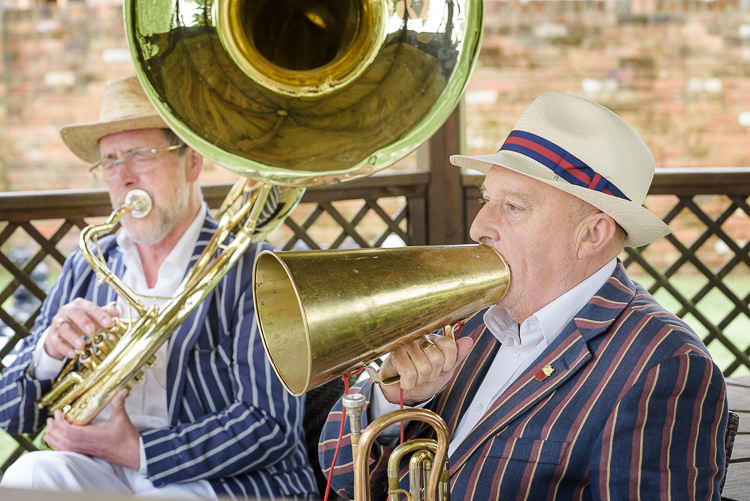 Jazz Band Pretty Natural Rustic Woodland Wedding http://riamishaal.com/