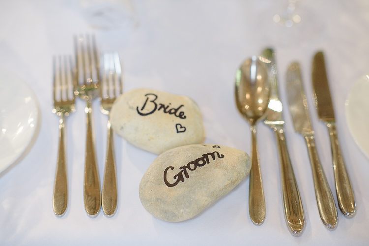 Pebble Place Names Pretty Natural Rustic Woodland Wedding http://riamishaal.com/
