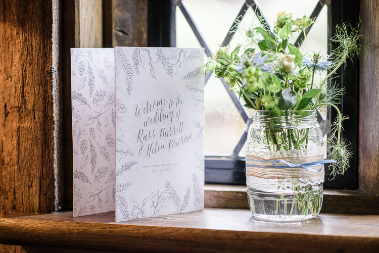 Botanical Stationery Order of Service Pretty Natural Rustic Woodland Wedding http://riamishaal.com/